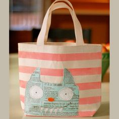 Tote bag tête de chat