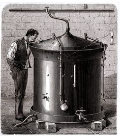 Engraving of a beer vat designed by Louis Pasteur, circa 1880. http://www.nlm.nih.gov/exhibition/fromdnatobeer/exhibition-brewing-mysteries.html
