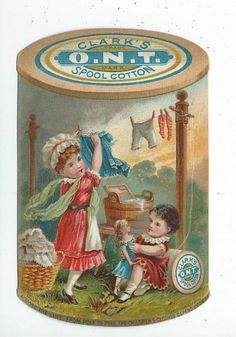 Trade Card Clark's Ont Sewing Thread