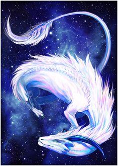 Albireo commission by grzanka on DeviantArt Red Dragon, Dragon Art, Princesa Disney Frozen, Dragon Family, Dragon Sketch, Legendary Creature, Dragon Pictures, Light Art, Fantasy Creatures