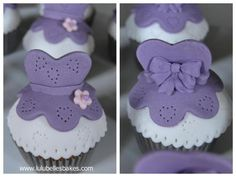 Princess Sophia dress cupcake topers - front and back view