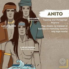 Gods Bathala had appointed to live with the mortals - The Philippines Today Filipino Words, Filipino Art, Filipino Culture, Filipino Tattoos, Philippine Mythology, Philippine Art, Mythological Creatures, Mythical Creatures, Cultura Filipina
