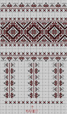 Ukrainian embroidered blouse (sleeve) Recreated by Lucy Ivantsu Palestinian Embroidery, Hungarian Embroidery, Folk Embroidery, Cross Stitch Embroidery, Embroidery Patterns, Machine Embroidery, Cross Stitch Borders, Cross Stitch Flowers, Cross Stitch Charts