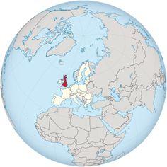 United Kingdom in the European Union on the globe (Europe centered)..... seit dem 24.6.2016 stimmt das nicht mehr:(