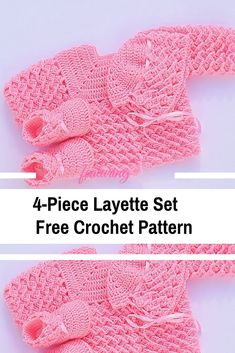 Crochet baby 290411875967433526 - Baby Layette Set Free Crochet Patterns & Video Tutorials Source by crochetdaily Crochet Baby Sweater Pattern, Crochet Baby Sweaters, Baby Sweater Patterns, Crochet Baby Clothes, Baby Girl Crochet, Newborn Crochet, Crochet Baby Hats, Baby Knitting Patterns, Free Crochet