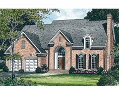 New American House Plan with 2170 Square Feet and 3 Bedrooms(s) from Dream Home Source | House Plan Code DHSW15776