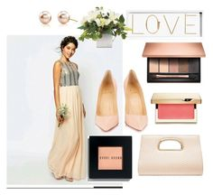 """PEACHES"" by hails520 on Polyvore featuring Bobbi Brown Cosmetics, Forever New, Clarins, Christian Louboutin, Oliver Gal Artist Co., women's clothing, women, female, woman and misses"