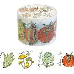 Vegetable Washi Tape Aimez