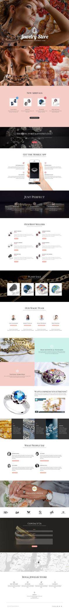 Jewelry Store wooComerce theme. WordPress eCommerce Themes