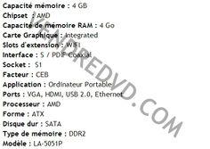 Achetez Carte mère Packard Bell EasyNote LJ61 AMD MBB5802001 KBYF0 LA- 5051P MB.B5802.001 MB B5802 001 lj61-rb-117 frb au meilleur prix chez vendredvd
