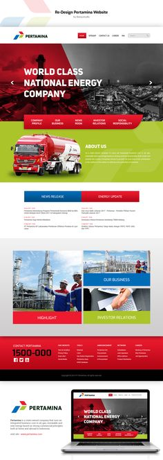 Pertamina Redesign Website By Me  My second practice to re design Pertamina Website.