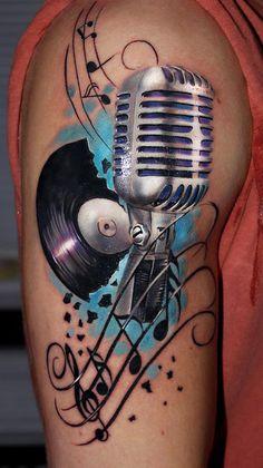 Retro Music Tattoo