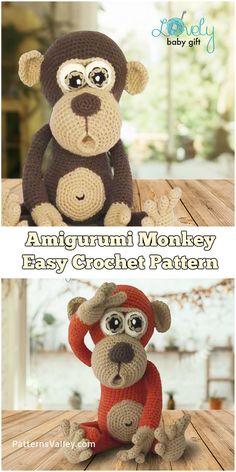 Amigurumi Monkey - Funny and Easy Crochet Pattern #amigurumi #amigurumitoy #crochet #crochetpattern #craft #hobby #toy