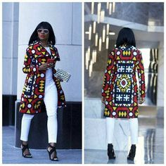 african fashion ankara Women jacket African print jacket Ankara jacket Angolan samacaca jacket samakaka jacket for women mom gift midi jacket for women African Fashion Ankara, African Fashion Designers, African Inspired Fashion, African Print Fashion, Africa Fashion, African Attire, African Wear, African Women, African Dress