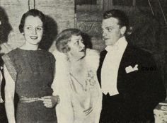 James Cagney with Mary Astor and Lucille Gleason at the 2nd annual Screen Guild ball in 1935
