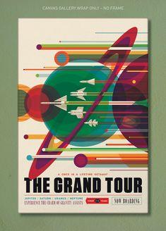 Grand Tour NASA JPL Visions of the Future | Etsy Claude Monet, Vincent Van Gogh, William Ellis, Space Tourism, Space Travel, Poster Vintage, Vintage Travel Posters, Grand Tour, Wassily Kandinsky