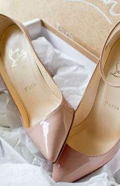 Dusty Rose Christian Louboutin high  heel pumps. Please excuse my salivation.