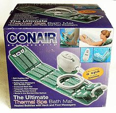 Conair Deluxe Thermal Spa Bath Mat With Remote and Foot Massage *** Check out this great product.