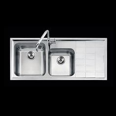 Kitchen sink - Abey Barazza Level Sink One & Three Quarter Bowl