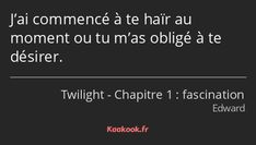 Twilight Edward, Twilight Saga, Netflix Movies To Watch, Citations Film, Love Phrases, French Quotes, Fake Love, Bad Mood, Tweet Quotes