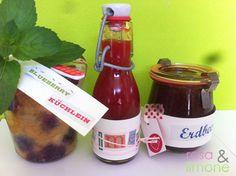 Blueberry Küchlein, Erdbeer-Limes und Erdbeermarmelade