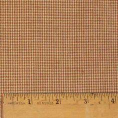 Nutmeg Homespun Cotton Plaid Fabric