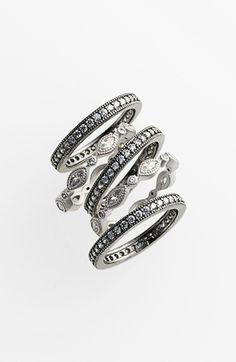 #Freida Rothman           #Jewelry                  #Freida #Rothman #Stackable #Eternity #Band #Rings #(Set #Silver/ #Black      Freida Rothman Stackable Eternity Band Rings (Set of 5) Silver/ Black 8                                 http://www.snaproduct.com/product.aspx?PID=5310699