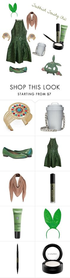 """Trubbish Trashy Chic"" by the-closet-cosplayer ❤ liked on Polyvore featuring Thalia Sodi, Moschino, Kenzo, Louis Vuitton, NYX, Dermablend, tarte and MAC Cosmetics"