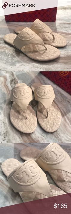 d3401da19cf8 NIB TORY BURCH FLEMING THONG SANDALS 9.5