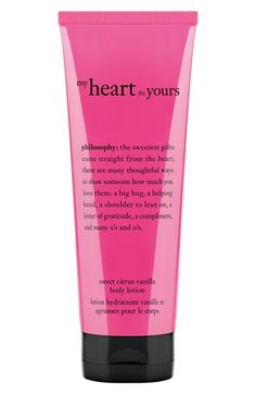 philosophy 'my heart to yours' body lotion (Limited Edition) available at #Nordstrom