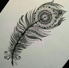 Imagem de drawing, art, and feather