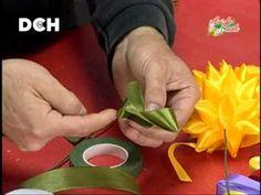 Flores con cintas - YouTube