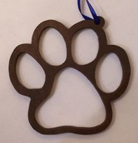 Paw Ornament or makes a great keychain