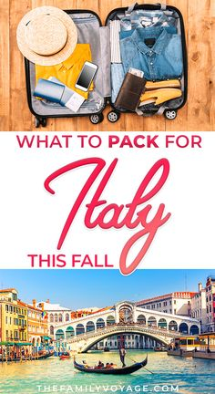 Fall capsule wardrobe for travel: what to pack for Italy in October - The Family Voyage - Are you visiting Italy this f. Italy Packing List, Italy Travel Tips, Packing List For Travel, Europe Travel Guide, Packing Lists, Vacation Travel, Budget Travel, Travel Guides, Family Travel