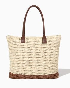 coachoutlet com xyd1  charming charlie  Colorblocked Straw Tote  UPC: 400000112428  #charmingcharlie