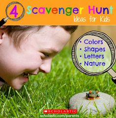 Take your preschooler out for a word, shape, or nature scavenger hunt! Click for details.