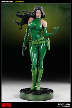 Marvel Madame Hydra Polystone Statue by Sideshow Collectibles Chica Fantasy, Fantasy Girl, Poses Silhouette, Dc Batgirl, Marvel Statues, Figure Poses, Marvel Comics Art, Sideshow Collectibles, Action Poses