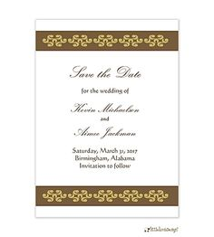 Elegant Band Save-the-Date Card