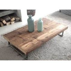 Salontafel Pipe Dream Home Design, House Design, Coffe Table, Diy Interior, Center Table, Industrial Furniture, Custom Furniture, Table And Chairs, Sweet Home