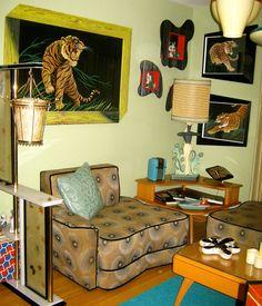 Hepcat Restorations sitting room Photography: Eva Ochoa, Glamourpuss Pin-Up Studio