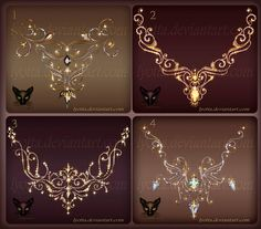 Jewelry Design Beautiful necklace and pendants with elements of hearts and flourishes gold jewelry with sto. Design Jewelry Gold Pendants Necklace With Pebbles Cute Jewelry, Gold Jewelry, Jewelery, Gold Pendant Necklace, Gold Pendants, Jewel Tattoo, Magical Jewelry, Crystal Magic, Weapon Concept Art