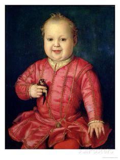 Portrait of Giovanni De' Medici--Bronzino