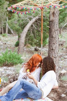 hippie engagement session // photo by Gaby J Photography // view more: http://ruffledblog.com/hippie-engagement-session