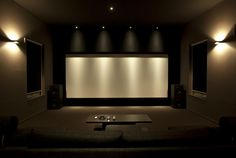 "Around 200"" AT cinemas cope screen with some nice Pro JBL speaker behind."