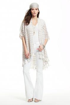 Acosta Hand Crochet Silk Cardigan