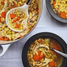 Chicken Noodle Soup. Get this & 12+ more Feel Better #recipes at https://feedfeed.info/feel-better?img=1025149 #feedfeed