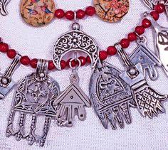 Moroccan Hamsas & Persian Painted Beads