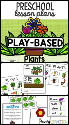 PLANTS Pre-K LESSON PLANS: Two weeks of learning through the plant theme. Perfect for play-based preschools and child-care.