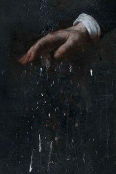 2010, oil on linen,  200 x 150 cm, Nicola samorì: La Candela per Far Luce Deve Consumarsi, 2010.