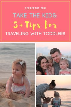 Family travel with little ones can be a bit stressful. Before your next trip be sure to check out these 5+ tips for traveling with toddlers. For more tips for traveling with kids, visit www.teetertot.com.